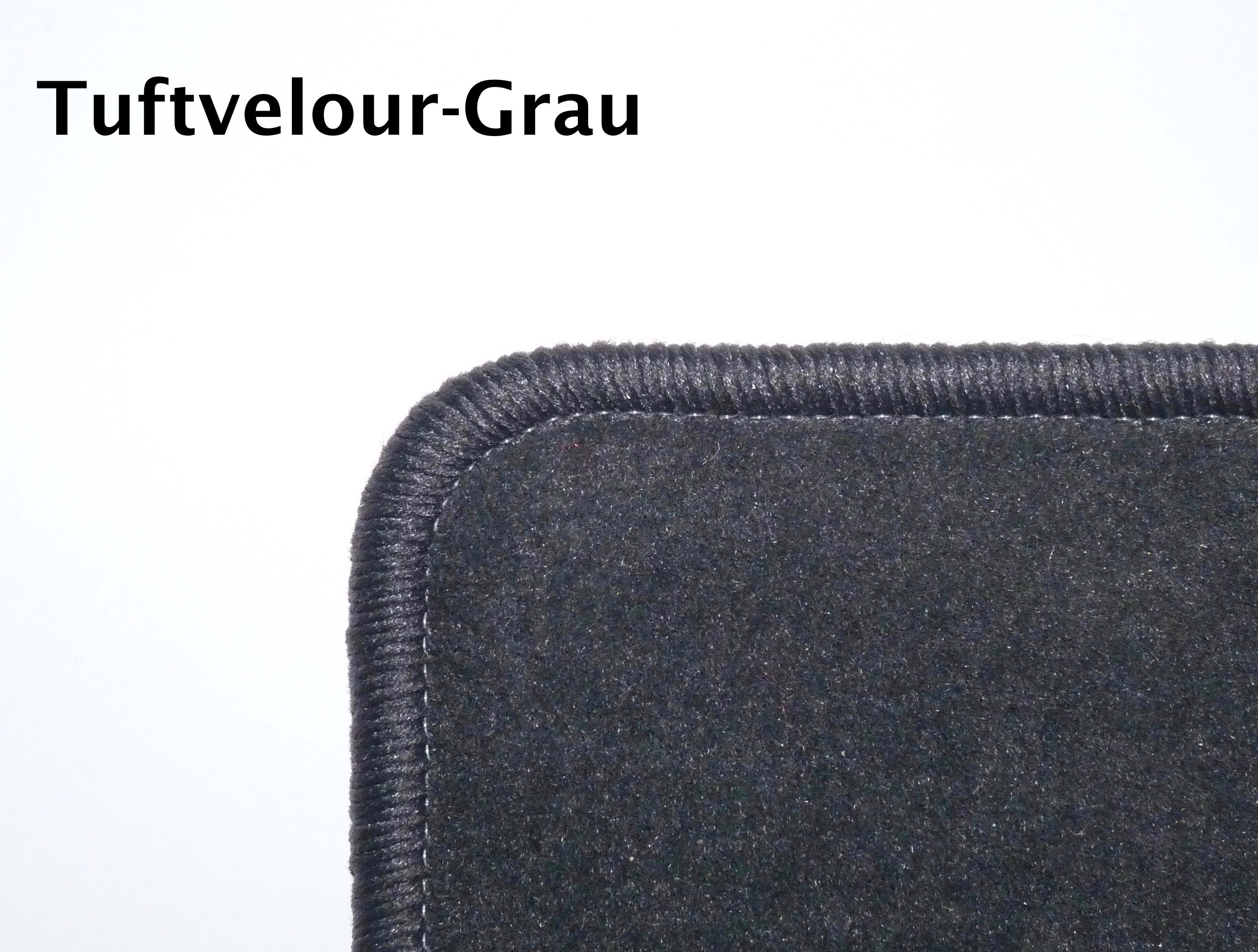 Tuftvelour-Grau