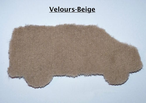 Materialmuster Velours Beige